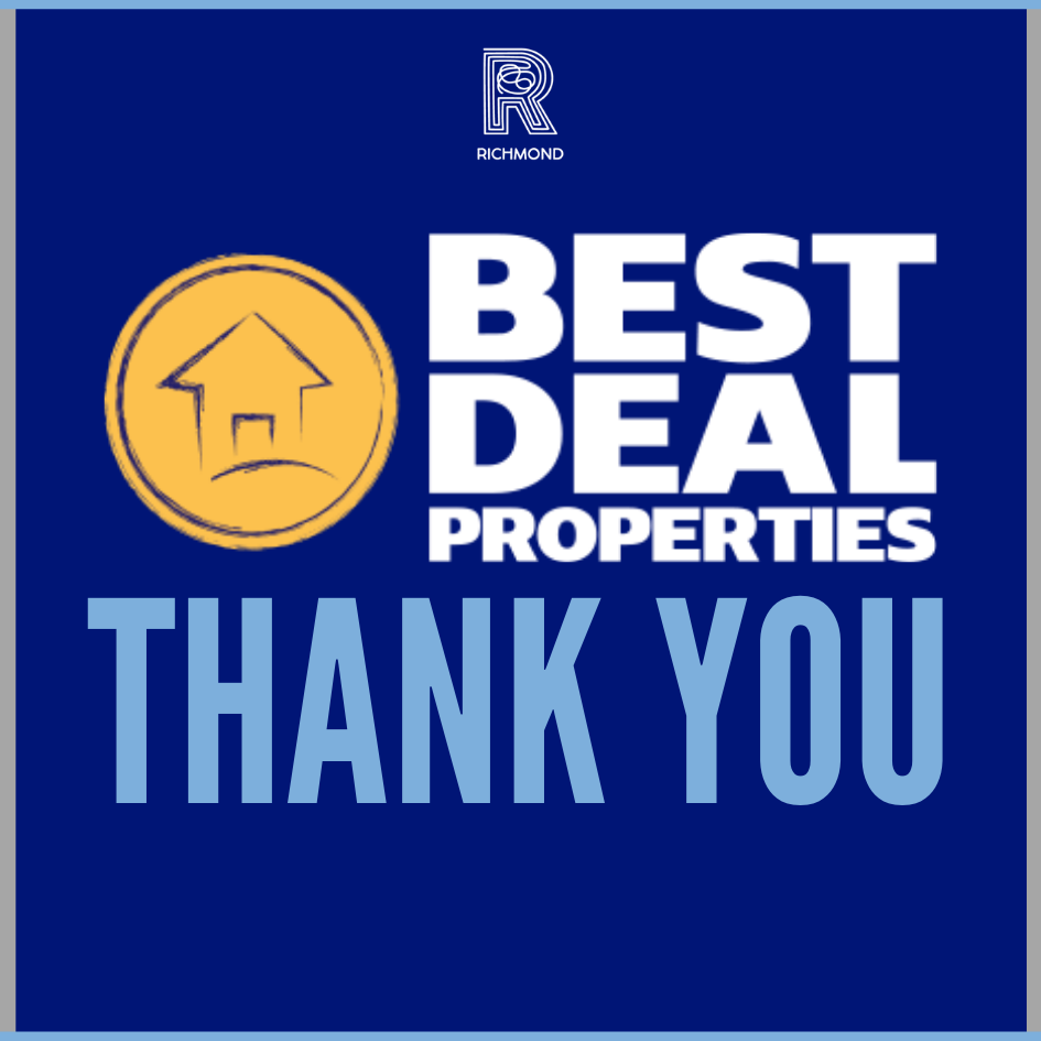Best Deal Properties has become a corporate sponsor for Richmond Foundation
